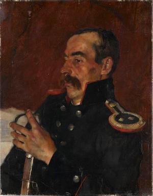 Brustbild eines Offiziers, nicht datiert