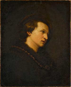 Bildnis eines jungen Mannes mit Barrett und Halskette, nicht datiert