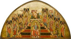 Maria als Thron Salomonis (im Bogenbereich fragmentarisch erhalten), um 1335