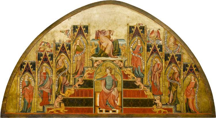 Maria als Thron Salomonis (im Bogenbereich fragmentarisch erhalten)