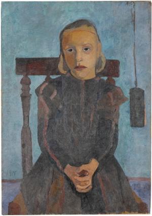 Kind mit Uhrgewicht, 1900
