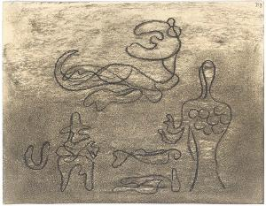 Gilgamesch, Blatt 30: Anu tat seinen Mund auf und spricht, er sagt zu ihrer Hoheit, der Ischtar: »Du forderst also heraus die Liebe des Gilgamesch, und Gilgamesch hat deine Bosheiten aufgezählt«, 1943