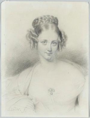 Damenbildnis, um 1830/40