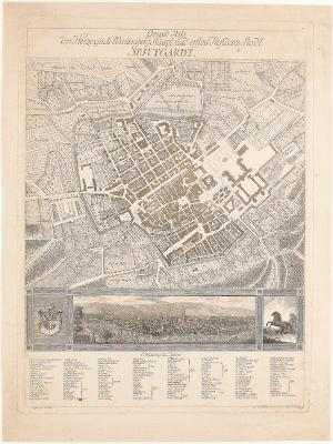 Grundriss der Herzoglich Württembergischen Haupt und ersten Residenz Stadt Stuttgart, um 1780