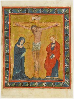 Christus am Kreuz mit Maria und Johannes, Anfang 15. Jh.