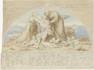 Rahel beweint ihre Kinder (Kindermord zu Bethlehem), 1843