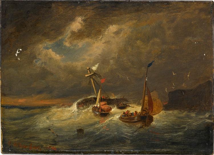 Segelschiffe im Sturm