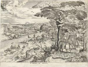 EVNTES IN EMAUS. Der Weg nach Emmaus (Die großen Landschaften), um 1555-1557
