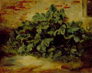 Blattwerk an der Mauer, 1848