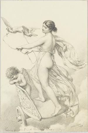 Venus und Amor auf dem Taubenwagen, 1878