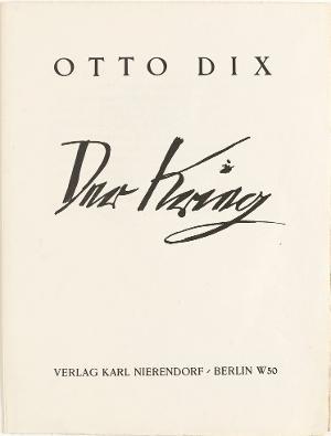 Der Krieg, Titelblatt, 1924
