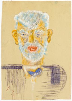 Porträt Alfred Lörcher, um 1961