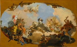 Apoll führt dem Genius Imperii die Kaiserliche Braut zu , 1751