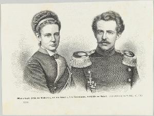 Wilhelm Eugen, Herzog von Württemberg und Vera Constantinowa, Großfürstin von Russland, nicht datiert