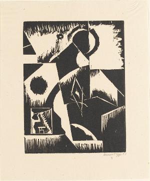 Abstrakte Komposition (Blatt 13 in: Bauhaus-Drucke. 3te Mappe), 1921