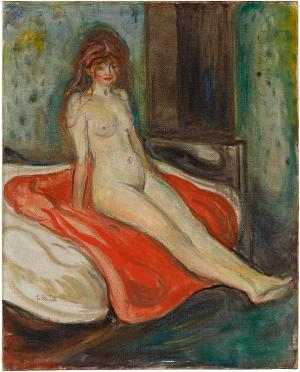 Nude Girl on a Red Cloth, 1902