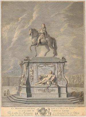 Das Denkmal für Louis XIV. in Lyon, 18. Jahrhundert