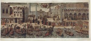 Prozession des Dogen in Venedig, um 1560