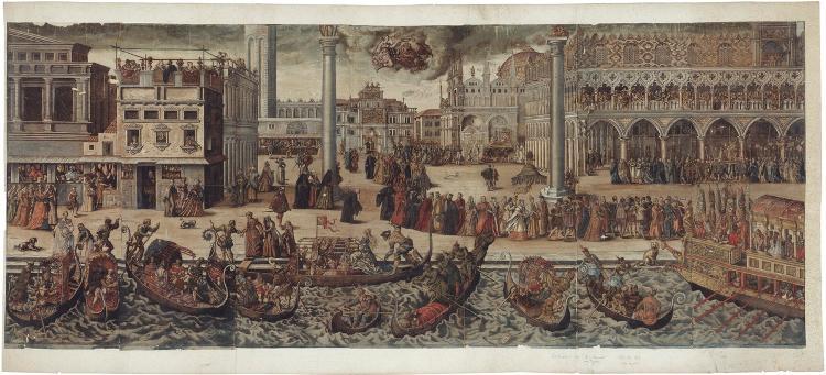 Prozession des Dogen in Venedig