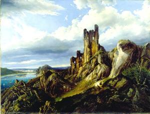 Phantastische Rheinlandschaft, 1845
