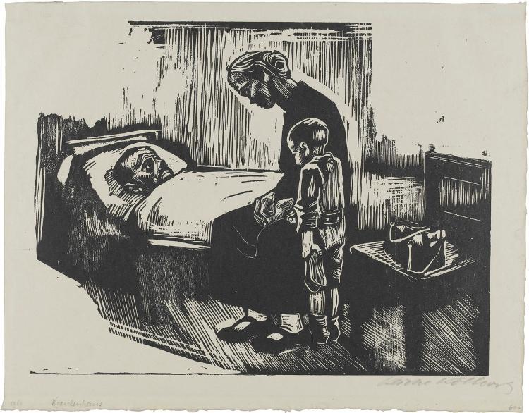 Besuch im Krankenhaus (Blatt 4 aus: Die Schaffenden, 7. Jahrgang, 2. Mappe)