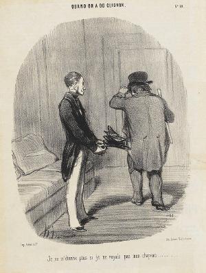 Kein Wunder, dass ich meinen Hut nicht mehr erkenne (Vom Pech verfolgt, 10. Le Charivari, 11.06.1850), 1850