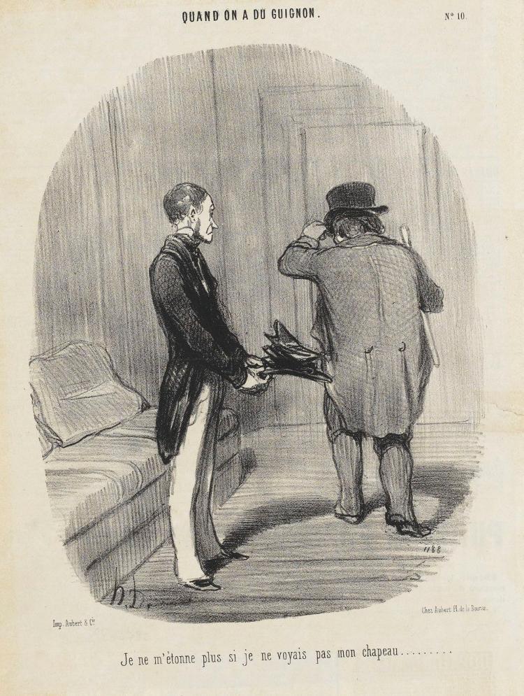 Kein Wunder, dass ich meinen Hut nicht mehr erkenne (Vom Pech verfolgt, 10. Le Charivari, 11.06.1850)