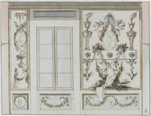 Wanddekoration, um 1830/40