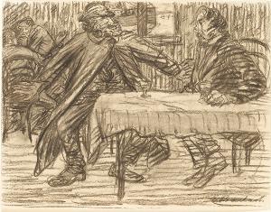 Zwei Männer im Gespräch (zu: Der Arme Vetter), 1917