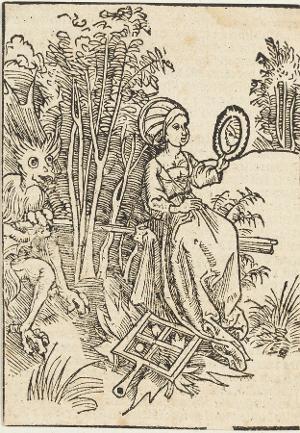 """Von Hochmut und Hoffahrt (aus: Sebastian Brants """"Narrenschiff"""", Kapitel 92)], um 1494"""