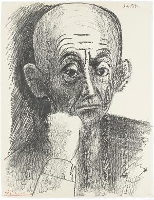 Portrait de D. H. Kahnweiler II (Daniel Henry Kahnweiler II), 3.6.1957