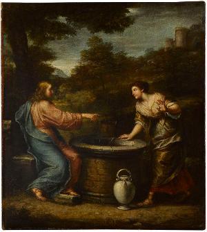 Christus und die Samariterin, Mitte 17. Jh.