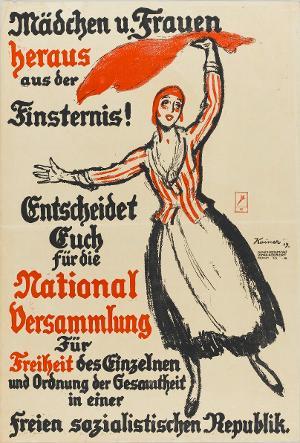 Mädchen u. Frauen heraus aus der Finsternis! Entscheidet Euch für die National Versammlung, 1919