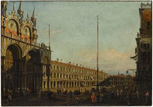 Vedute mit dem Markusplatz in Venedig, 18. Jahrhundert