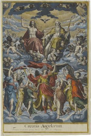 Die Trinität inmitten der Engelschöre, um 1591
