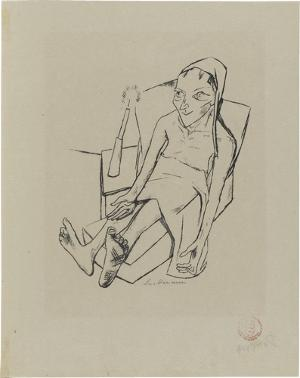 Lili von Braunbehrens, Stadtnacht, Blatt 6: Die Kranke, 1921