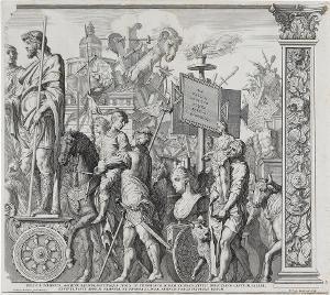 Die Triumphwagen (Blatt 2 in: Der Triumphzug Caesars), 1692