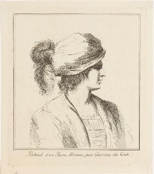 Porträt eines jungen Mannes nach rechts, nicht datiert