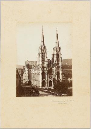 Die katholische Marienkirche in Stuttgart, um 1876