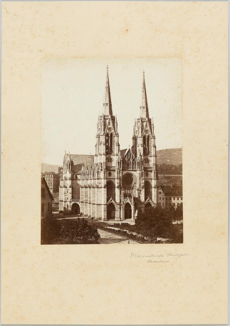 Die katholische Marienkirche in Stuttgart