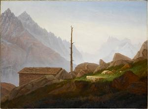 View from the Montanvert onto the Montblanc Group, 1822-1824