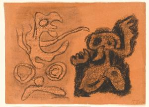 Sturm, Blatt 6: Sycorax und Kaliban, 1943
