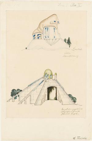 Landhaus. Ausstellungsgebäude (Serie I, Blatt 9), 1919