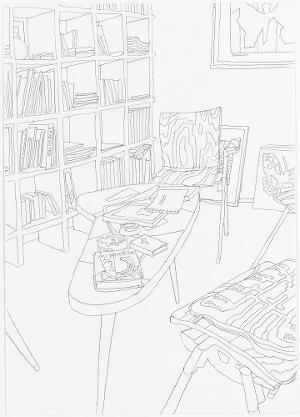 Bibliothek. Aus der Serie »Mariposa«, 2006