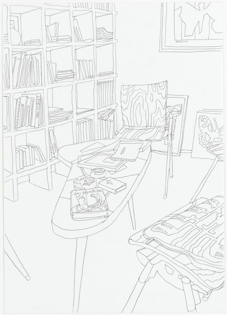 Bibliothek. Aus der Serie »Mariposa«