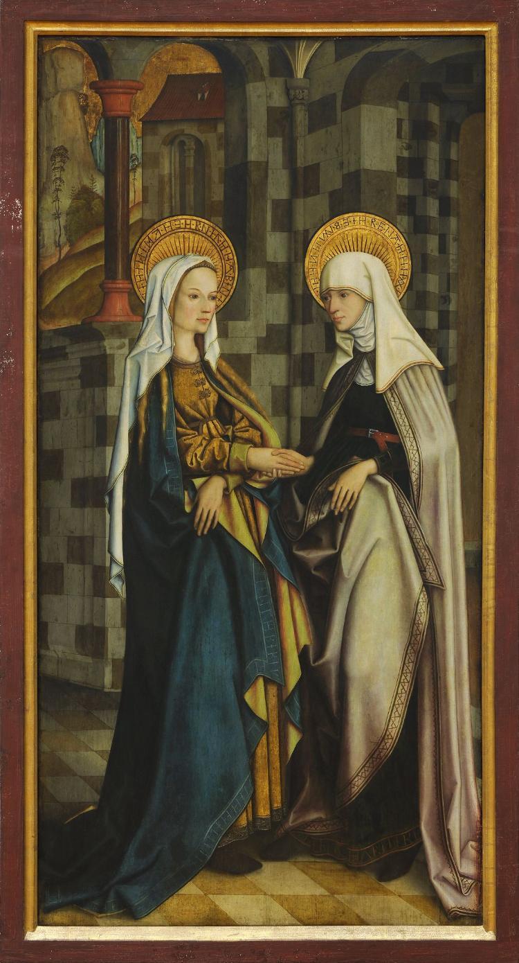 Eschacher Altar: Die Heimsuchung Mariens
