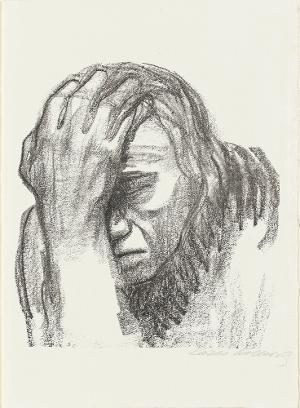 Kopf eines Mannes (Blatt 13 in: Arno Holz zum sechzigsten Geburtstage), 1920 (1923)