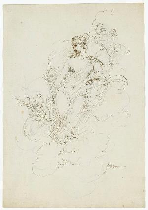 Ceres, Göttin des Wachstums der Ackerfrüchte, und zwei Putti, um 1830/40