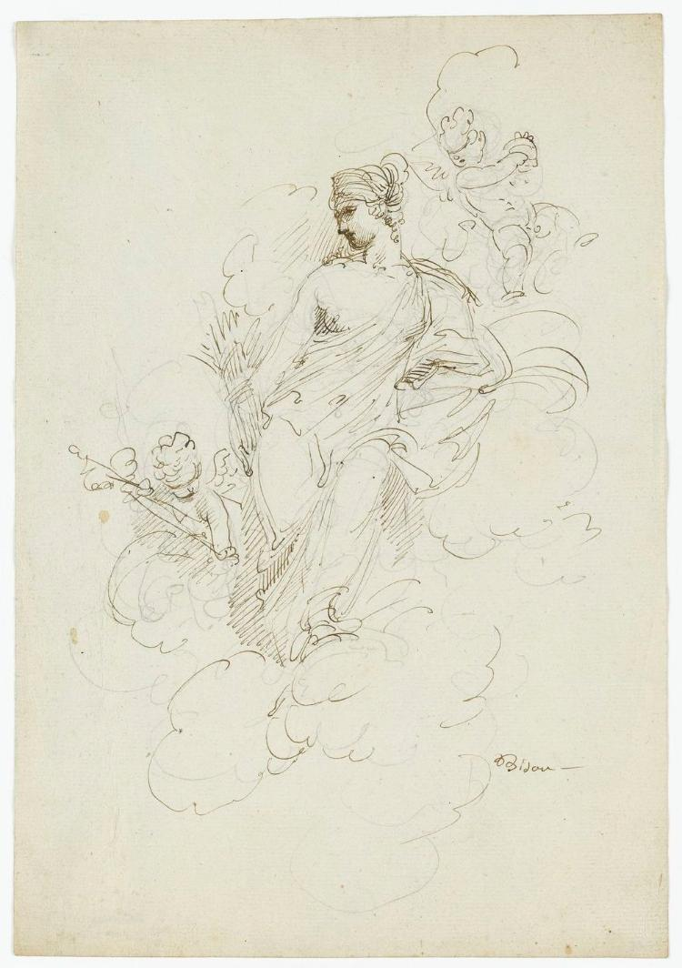 Ceres, Göttin des Wachstums der Ackerfrüchte, und zwei Putti
