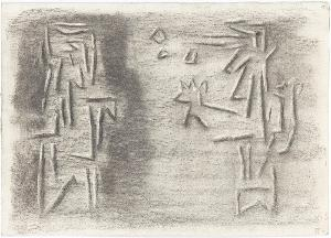 Gilgamesch, Blatt 63: Der Vater der Tiefe hört sein Wort und sprach zum gewaltigen Nergal, dem Herrscher der Toten:  ..., 1943